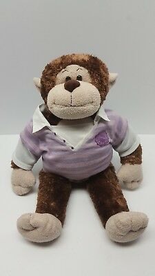 Build a Bear Brown Beige Smiling Happy Monkey Soft Plush Stuffed Animal 18""