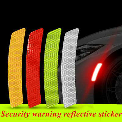 2x Reflective Warning Strip Tape Car Bumper Strips Secure Stickers Decals Safety