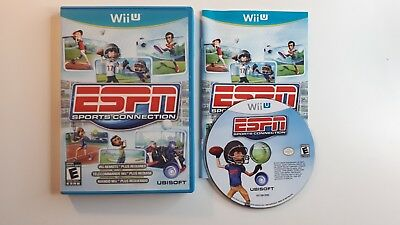 Nintendo Wii U ESPN sports Connection Complete! CIB - FAST FREE SHIPPING !!