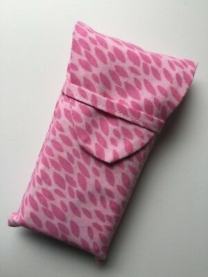 Tissues case / cover Pocket/ bag size Fabric Pink Mum Girl Gift Present
