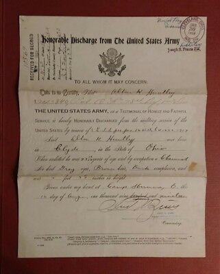 World War I Meuse-Argonne Offensive US Army Military Honorable Discharge Huntley
