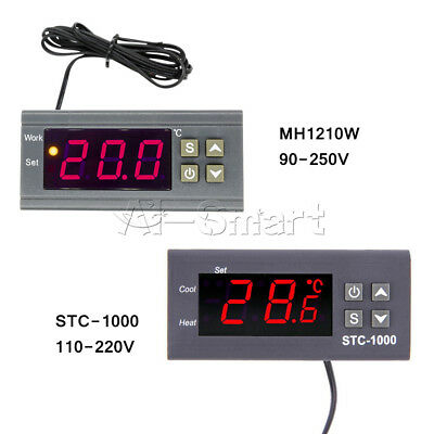 Digital Temperature Controller Sensor Thermostat With Sensor 90~250V 110-220V