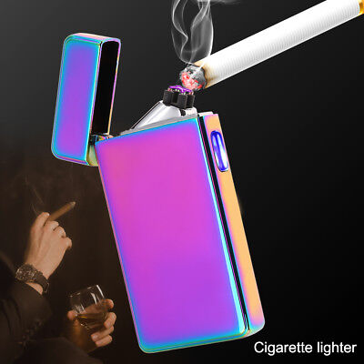 Electric Double Arc Pulse Plasma Lighter Flameless Metal Cigarette USB Men Gift