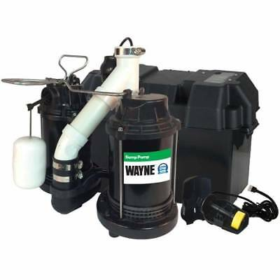 Wayne WSS30V 1/2 HP Cast Iron Submersible Sump Pump with Automatic Switch