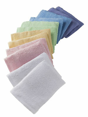 Carre d'azur - Lot de 12 gants de toilette unis coloris assortis - mixte adulte