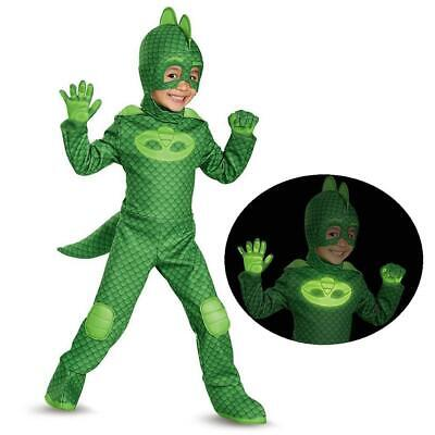 NEW PJ Masks Gekko Lizard Deluxe Glows-in-Dark size S 2T Licensed Costume