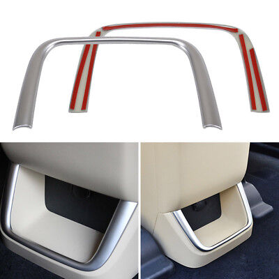 For Toyota Highlander 2015 Chrome Rear Air Vent Armrest Covers Trim Professional