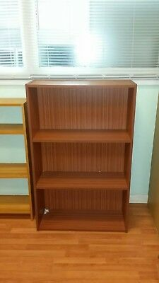 Office Bookcase in walnut with Two Shelves  - Height 1230mm