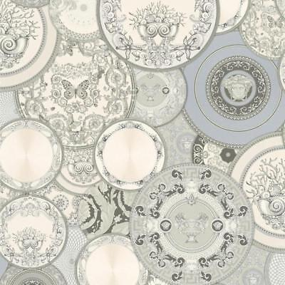 Versace Silver Plates Wallpaper Designer Paste the Wall Vinyl 34901-3