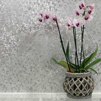 Silver Crushed Velvet Effect Wallpaper Metallic Foil Vinyl by Arthouse 294301