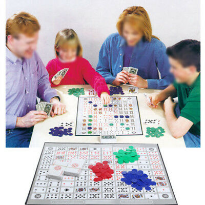 Sequence Card Brettspiel Challenge Strategy w/ 135 Playing Chips Karten Family
