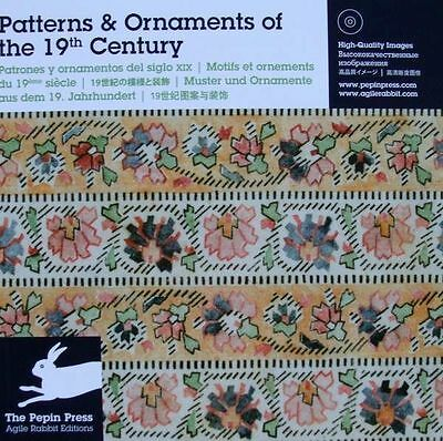 LIVRE + CD : MOTIFS & ORNEMENTS du 19eme siècle (patterns,ornaments 19th ce