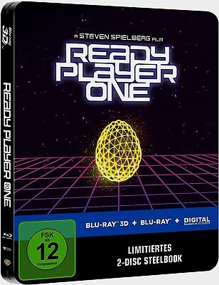 Ready Player One 3D --- 2 Disc Limited Steelbook Edition / Blu-Ray 3D + 2D