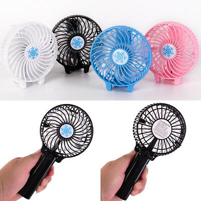 Rechargeable USB Fan Air Cooler Mini Operated Hand Held Protable No Battery Pip