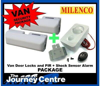 Ford Transit Courier Milenco Security System Van Door Lock Twin Pack and Alarm