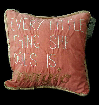 NEW/NWT-Lambs & and Ivy Nursery Pillow/Family Tree/Every Little Thing-Magic/Girl