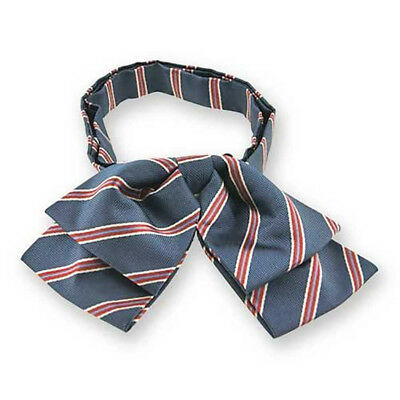 TieMart Denim Blue Melvin Stripe Floppy Bow Tie