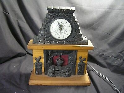 United Fireplace Clock Made in USA VINTAGE Not Working