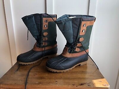 d3d9383da2d EDDIE BAUER HUNTING Shurling Duck Muck boots RUBBER LEATHER Weather US 9  Men s
