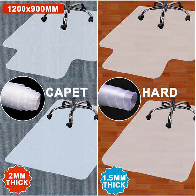 Desk Chair Mat Carpet Hard Wood Laminate Floor Protector PVC Plastic Home Office