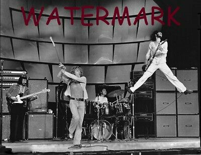 Classic Rock Band The Who W/ Pete Townsend Guitarist High Jump Publicity Photo