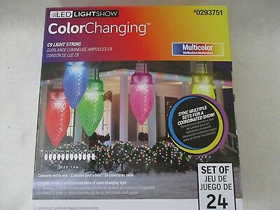 Ge Light Show 24 C9 Color Changing Led String Lights  - New W Box