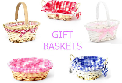 Organic Woven Wicker Bassinet Baby Crib Colours Rattan Hamper Home Gifts Baskets