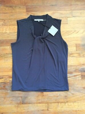 Andrew Marc Navy Blouse / Top - Size L - NWT
