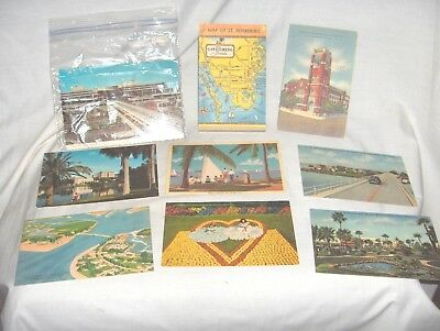 Es184 - Lot Of Twenty Vintage Postcards, Linen, Rppc - 1940's Florida