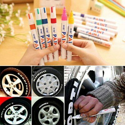 Paint Marker Pen Waterproof Oil Markers Pens Car Tyre Tire Tyres Metal White