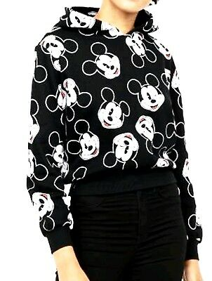 Disney official Micky Mouse Jumper hooded black ladies/girls from H&M sweatshirt