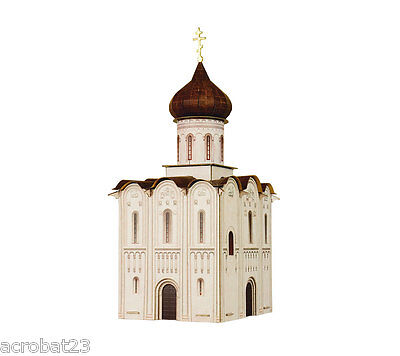 Building CHURCH OF THE INTERCESSION ON THE NERL HO Scale 1/87 Railway Model Kit