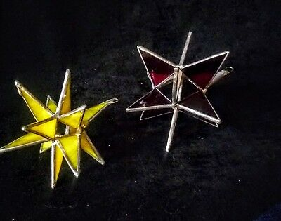 Stained Glass Moravian Star Christmas Ornaments
