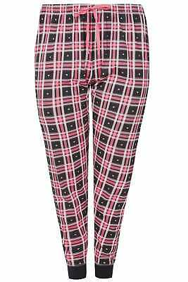 Yours Clothing Women's Plus Size Check & Heart Print Pyjama Bottoms