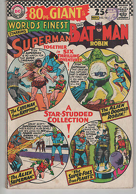 Worlds Finest 161 vg+ 80 page Giant, DC comics, Silver Age