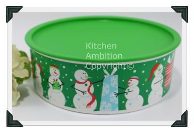 Brand New TUPPERWARE One Touch® Holiday Large Cookie Canister Airtight Container