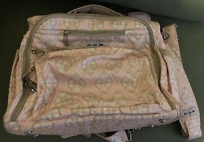 Ju Ju Be Bff Baby Diaper Bag Backpack W/ Changing Pad Used