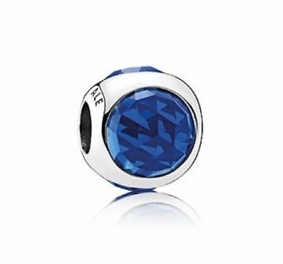 NEW Authentic PANDORA Radiant Droplet Charm, Royal Blue Crystals 792095NCB