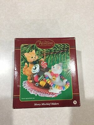 Carlton Ornament 2002 Merry Mischief Makers Cat Kitten # 7