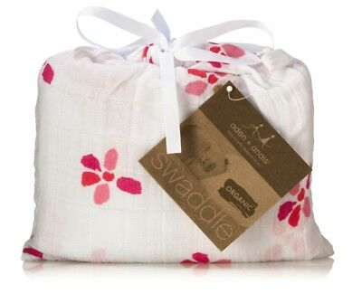 NEW with TAG: ADEN AND ANAIS Swaddle - Organic Muslin Cotton Blanket - BLOOM