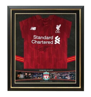 low priced 608aa e7bef MO SALAH SIGNED & Framed Liverpool F.C. Jersey Genuine Signature AFTAL COA  (A)
