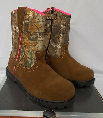 16f0433d392d4 New Girl's Game Winner Scout Wellington Realtree Xtra Camo Hunting Boots 4M