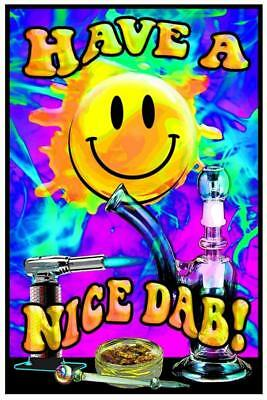 Have A Nice Dab - Blacklight Poster - 23X35 Flocked 1981