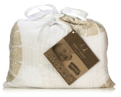 NEW with TAG: ADEN AND ANAIS Swaddle - Organic Muslin Cotton Blanket - OASIS