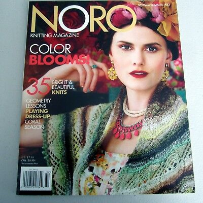 Noro Knitting Magazine  Spring/ Summer 2013 in good condition