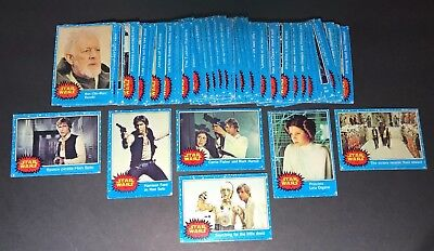 1977 Star Wars Series 1 Blue Border Cards Lot Of 49 Cards.