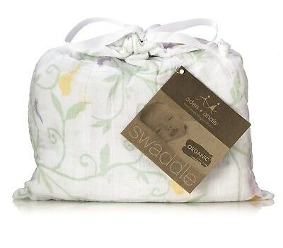 NEW with TAG: ADEN AND ANAIS Swaddle - Organic Muslin Cotton Blanket ENCHANTED
