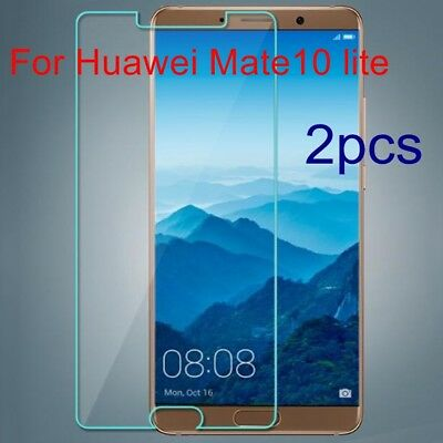 2xAnti-Shatter Genuine Tempered Glass 9H screen Protector for Huawei Mate10 lite