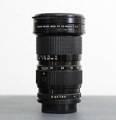 Canon Zoom Lens FD 35-105mm f3.5 - End Caps - Filter - A+++ AE1 A1 F1 AV AT