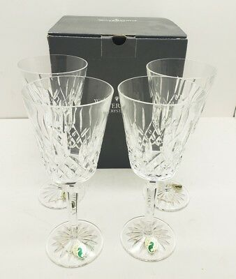 Waterford Crystal Made In Ireland Lismore Tall Goblet Set Of 4 Wine Glasses